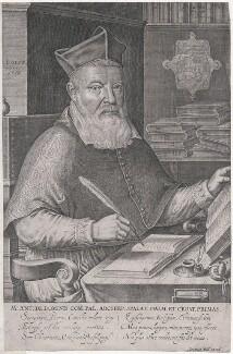 Marco Antonio de Dominis, possibly by Renold or Reginold Elstrack (Elstracke), published by  John Bill, after  Michiel Jansz. van Miereveldt - NPG D47420
