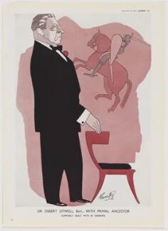 Sir Osbert Sitwell ('Sir Osbert Sitwell, Bart., with Primal Ancestor'), after Robert Stewart Sherriffs - NPG D47444