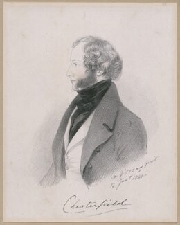 George Stanhope, 6th Earl of Chesterfield, by Richard James Lane, after  Alfred, Count D'Orsay - NPG D46262