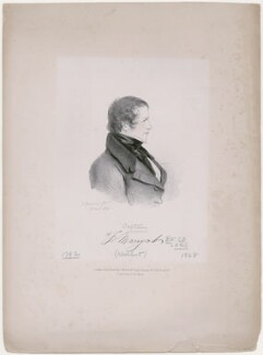 Frederick Marryat, by Richard James Lane, published by  John Mitchell, after  Alfred, Count D'Orsay - NPG D46267