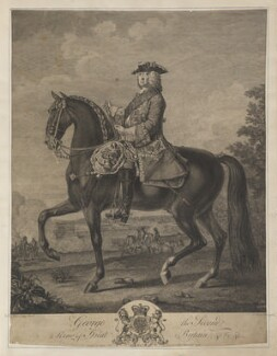 King George II, by Simon François Ravenet, after and published by  David Morier - NPG D47457