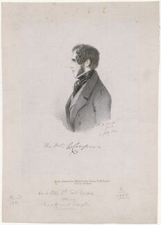 William Francis Cowper-Temple, 1st Baron Mount-Temple, by Richard James Lane, printed by  Jérémie Graf, published by  John Mitchell, after  Alfred, Count D'Orsay - NPG D46271