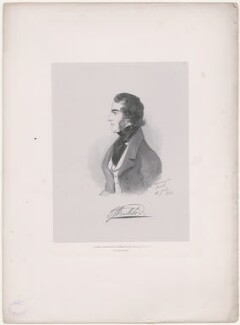 Charles Augustus Bennet, 6th Earl of Tankerville, by Richard James Lane, printed by  C. Graf, published by  John Mitchell, after  Alfred, Count D'Orsay - NPG D46273