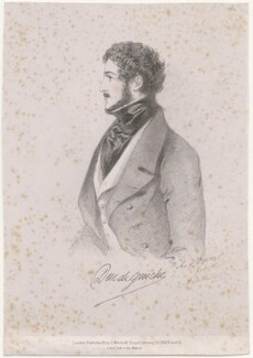 Antoine Alfred Agénor, 10th duc de Gramont, by Richard James Lane, printed by  C. Graf, published by  John Mitchell, after  Alfred, Count D'Orsay - NPG D46274