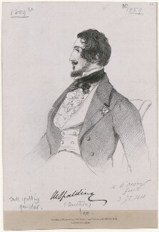 Jack Spalding, by Richard James Lane, printed by  C. Graf, published by  John Mitchell, after  Alfred, Count D'Orsay - NPG D46275