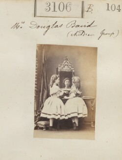 Children of Mrs Douglas Baird (Charlotte Baird; Jeannie Baird), by Camille Silvy - NPG Ax52507