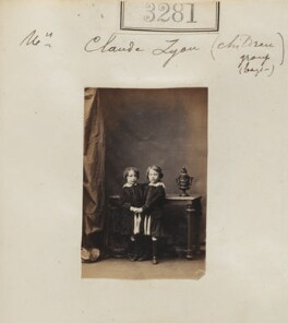 Claude George Bowes-Lyon, 14th Earl of Strathmore and Kinghorne; Hon. Francis Bowes-Lyon, by Camille Silvy - NPG Ax52682