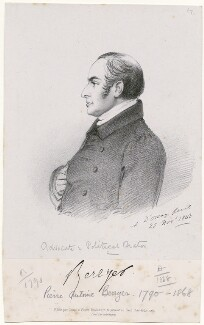 Pierre Antoine Berryer, by Richard James Lane, printed by  C. Graf, published by  Goupil & Vibert, after  Alfred, Count D'Orsay - NPG D46279