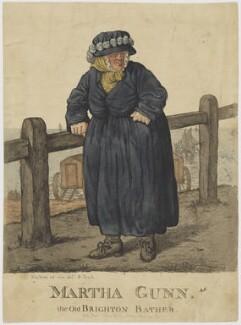 Martha Gunn the Old Brighton Bather, by Robert Dighton - NPG D47125