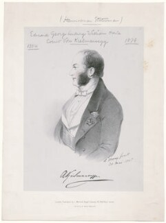Count Adolphus Augustus Frederic Kielmansegge, by Richard James Lane, printed by  M & N Hanhart, published by  John Mitchell, after  Alfred, Count D'Orsay - NPG D46283