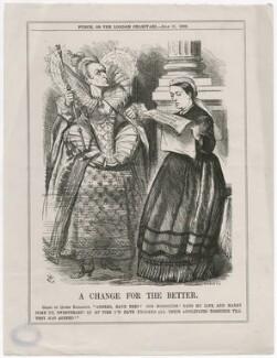 A Change for the Better (Queen Elizabeth I; Queen Victoria), by Joseph Swain, after  Sir John Tenniel - NPG D47458