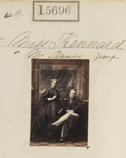 Ellen Thomas (née Kennard); George William Griffiths Thomas, by Camille Silvy - NPG Ax63624