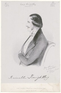 Rainald Knightley, 1st Baron Knightley, by Richard James Lane, printed by  M & N Hanhart, published by  John Mitchell, after  Alfred, Count D'Orsay - NPG D46284