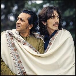 Ravi Shankar; George Harrison, by Clive Arrowsmith - NPG x199702