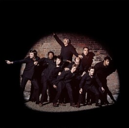 Band on the Run (Sir (James) Paul McCartney; Linda McCartney; Sir Michael Parkinson; Denny Laine (Brian Hines); James Harrison Coburn; John Conteh; Sir Clement Raphael Freud; Sir Christopher Frank Carandini Lee; Kenny Lynch), by Clive Arrowsmith - NPG x199704