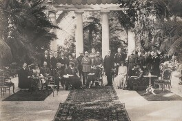'Garden party at the British Embassy in Belgium' (group including Sir George Dixon Grahame), by Speaight Ltd - NPG x199621