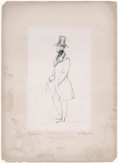 Robert Henry Herbert, 12th Earl of Pembroke, by Richard James Lane, printed by  Jérémie Graf, published by  John Mitchell, after  Alfred, Count D'Orsay - NPG D46288