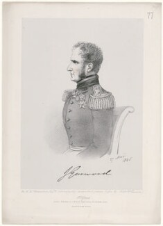 John Gurwood, by Richard James Lane, printed by  M & N Hanhart, published by  John Mitchell, after  Alfred, Count D'Orsay - NPG D46289