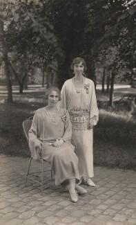 Victoria Eugenie ('Ena') of Battenberg, Queen of Spain; Elisabeth of Bavaria, Queen of Belgium, by Speaight Ltd - NPG x199622