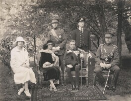Marie José, Queen of Italy; Elisabeth of Bavaria, Queen of Belgium; Leopold III, King of the Belgians; Prince Edward, Duke of Windsor (King Edward VIII); Prince Charles of Belgium, Count of Flanders; Albert I, King of the Belgians, by Speaight Ltd - NPG x199626