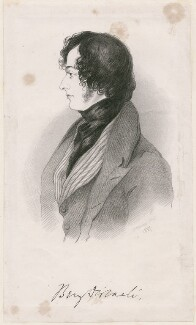 Benjamin Disraeli, Earl of Beaconsfield, after Alfred, Count D'Orsay - NPG D46293