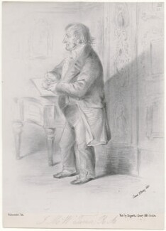 J.M.W. Turner, probably published by Joseph Hogarth, after  Alfred, Count D'Orsay - NPG D46294