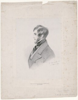 Probably Charles Kinnaird Sheridan, by Richard James Lane, printed by  C. Graf, published by  John Mitchell, after  Alfred, Count D'Orsay - NPG D46303