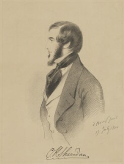 Charles Kinnaird Sheridan, by Richard James Lane, printed by  C. Graf, published by  John Mitchell, after  Alfred, Count D'Orsay - NPG D47467