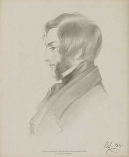 Francis Cynric Sheridan, by Richard James Lane, printed by  C. Graf, published by  John Mitchell, after  Edwin Landseer - NPG D47469