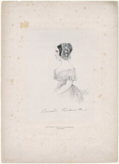 Corisande Emma Harris (née Bennet), Countess of Malmesbury, by Richard James Lane, printed by  C. Graf, published by  John Mitchell, after  Alfred, Count D'Orsay - NPG D46304