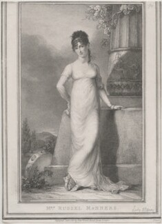 Catherine (née Pollok), Lady Stepney, when Mrs Russell Manners, by Robert Cooper, published by  Edward Orme, after  Peter Edward Stroehling - NPG D47476