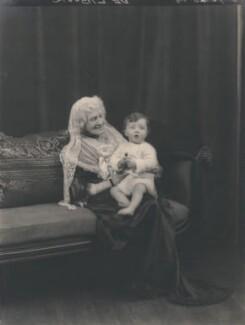 Lois Frances Selfridge (née Baxter) with her grandchild, by Speaight Ltd - NPG x199636