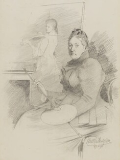 Henrietta Mary Ada Ward, by Walker Hodgson - NPG 7037