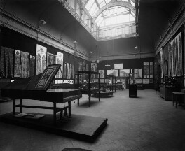 Interior of the fifth Arts and Crafts Society Exhibition at the New Gallery (West Gallery), by Emery Walker Ltd - NPG x200685