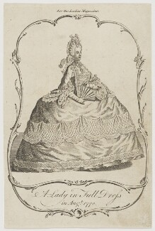 'A Lady in Full Dress in Augt. 1770', published in The Lady's Magazine - NPG D47481