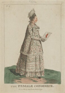 Mary Darly ('The Female Conoiseur'), published by Mary Darly - NPG D47482
