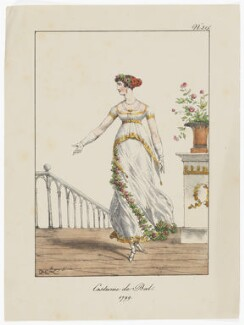 'Costume de Bal, 1799', by 'H. le L.' - NPG D47485