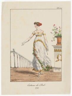 'Costume de Bal, 1799', by 'H. le L.' - NPG D47485