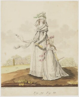 Morning dresses, August 1795, by Arndt, after  Nicolaus Wilhelm von Heideloff - NPG D47484