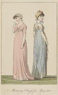 'Morning Dress for May 1800', published in The Lady's Monthly Museum - NPG D47486