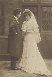 Marcus Adams and Lily Maud Adams (née Farr) on their wedding day, by Walton Adams - NPG x199819
