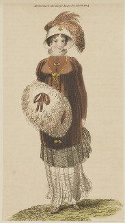 Walking dress, March 1805, published in The Lady's Magazine - NPG D47491