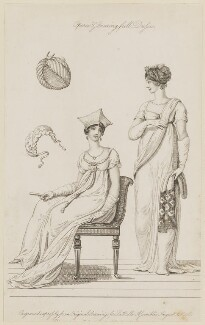 'Opera & Evening full Dresses', August 1806, published by John Bell, published in  La Belle Assemblée or Bell's Court and Fashionable Magazine - NPG D47499