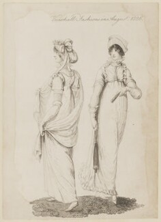 'Vauxhall Fashions in August, 1806', published by John Bell, published in  La Belle Assemblée or Bell's Court and Fashionable Magazine - NPG D47500
