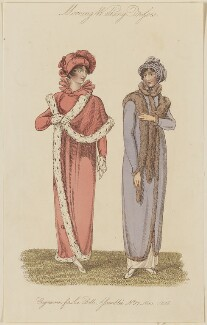 'Morning Walking Dresses', November 1808, published by John Bell, published in  La Belle Assemblée or Bell's Court and Fashionable Magazine - NPG D47512