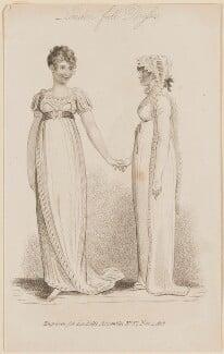 'London Full Dresses', November 1808, published by John Bell, published in  La Belle Assemblée or Bell's Court and Fashionable Magazine - NPG D47516