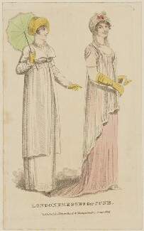 'London Dresses for June', published by Vernor, Hood & Sharpe, published for  Lady's Monthly Museum - NPG D47518