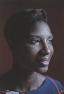 Denise Lewis, by Simon Frederick - NPG P2043