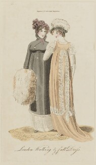 'London Walking & full Dress' by Mack and Bennet, November 1805, published in The Lady's Magazine - NPG D47521