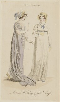 'London Walking & full Dress', October 1805, published in The Lady's Magazine - NPG D47522